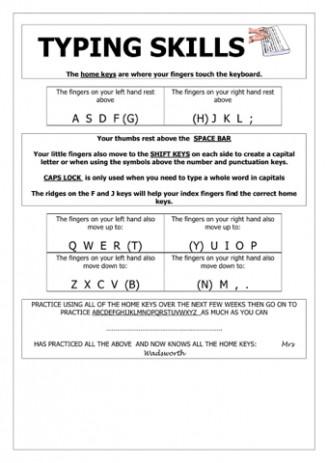 Printable Keyboarding Worksheets Keyboard Templates