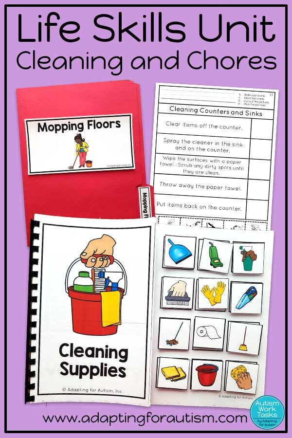 Printable Life Skills Worksheets Life Skills Activities for Teaching Cleaning and Chores