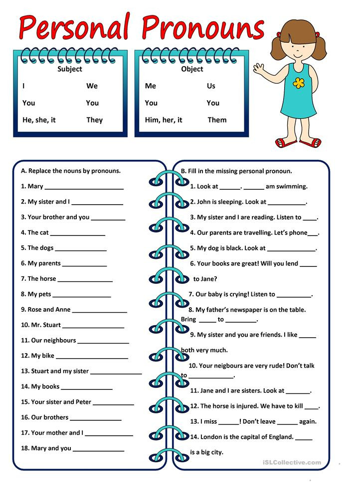 Printable Pronouns Worksheets 36 Free Printable Worksheet Personal Pronouns Pronouns