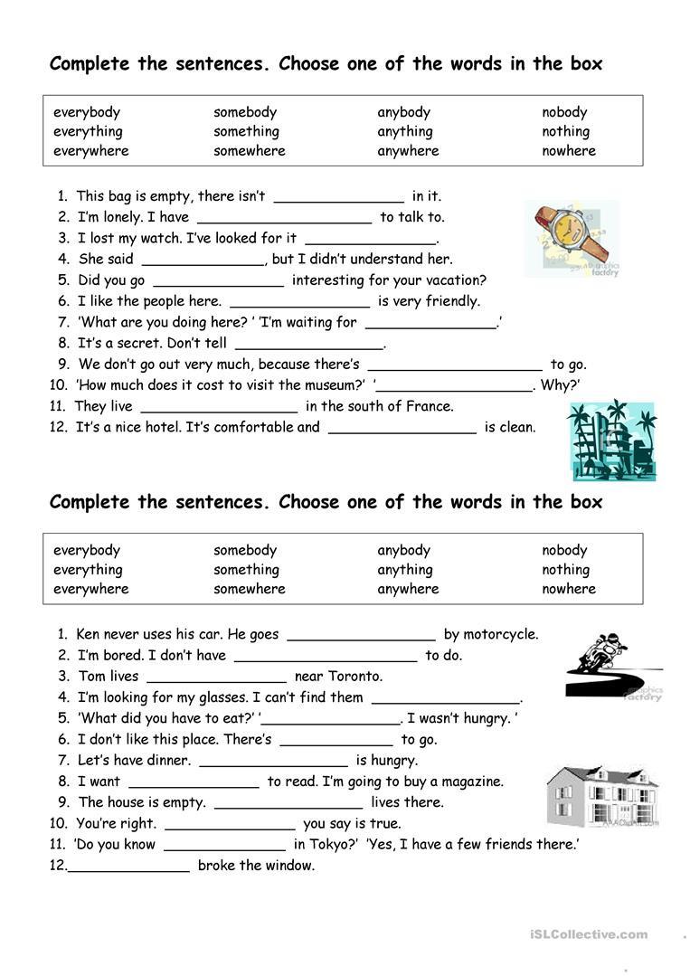 Printable Pronouns Worksheets English Esl Indefinite Pronouns Worksheets Most Ed
