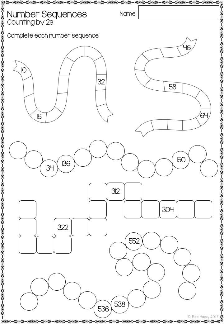 Printable Sequence Worksheets Australian Curriculum Number Sequences Worksheets and Task