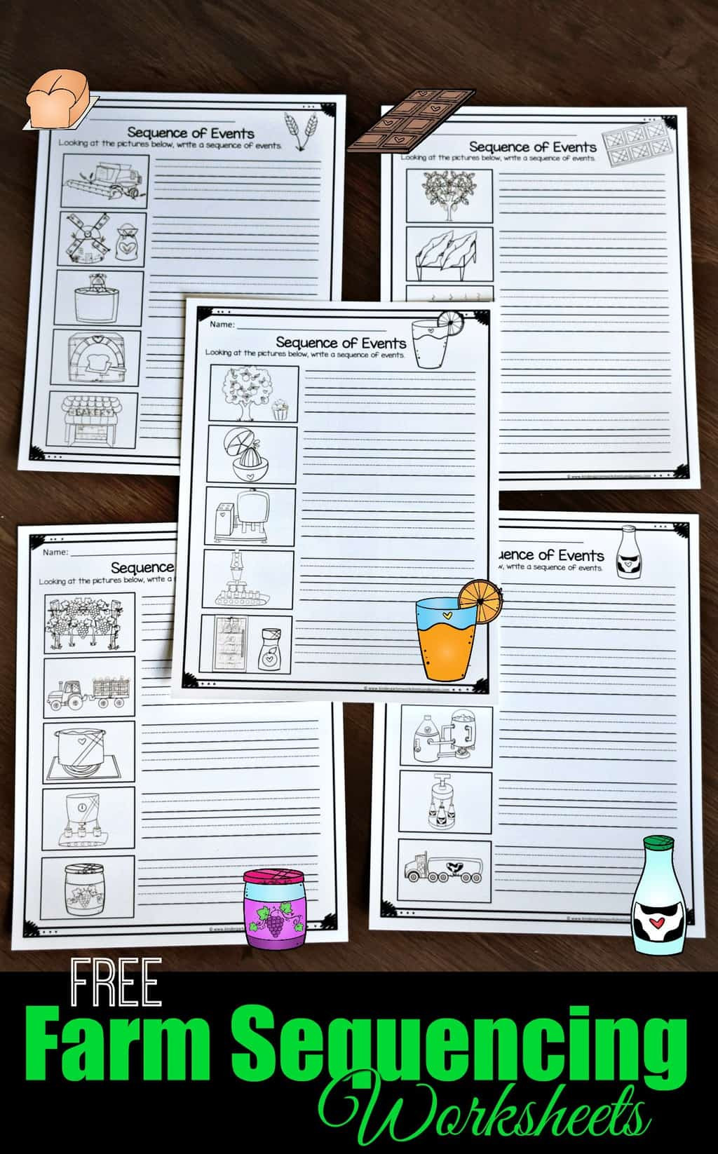 Printable Sequence Worksheets Free Farm Sequencing Worksheets