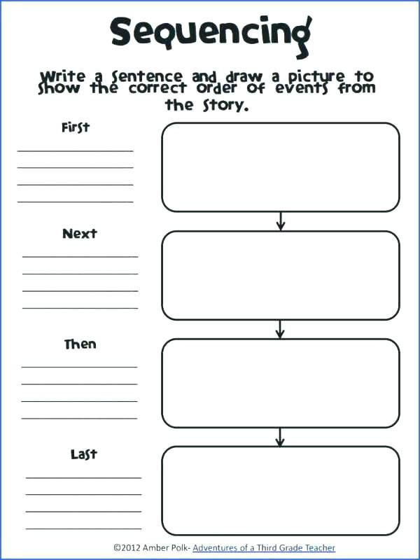 Printable Sequence Worksheets Story Sequencing Worksheets for Grade Activities Sequence Of