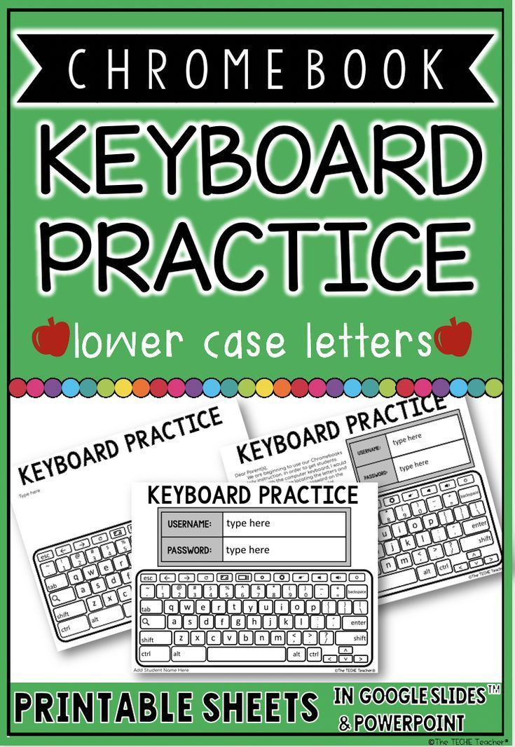 Printable Typing Worksheets Chromebook Keyboard Printable Practice Sheets