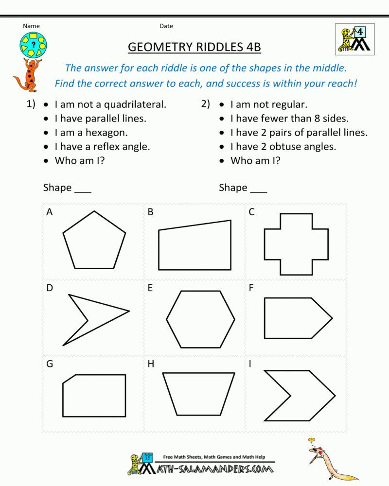 Probability Worksheet 4th Grade Free Printable Math Worksheets for 4th Grade Angles & 8211