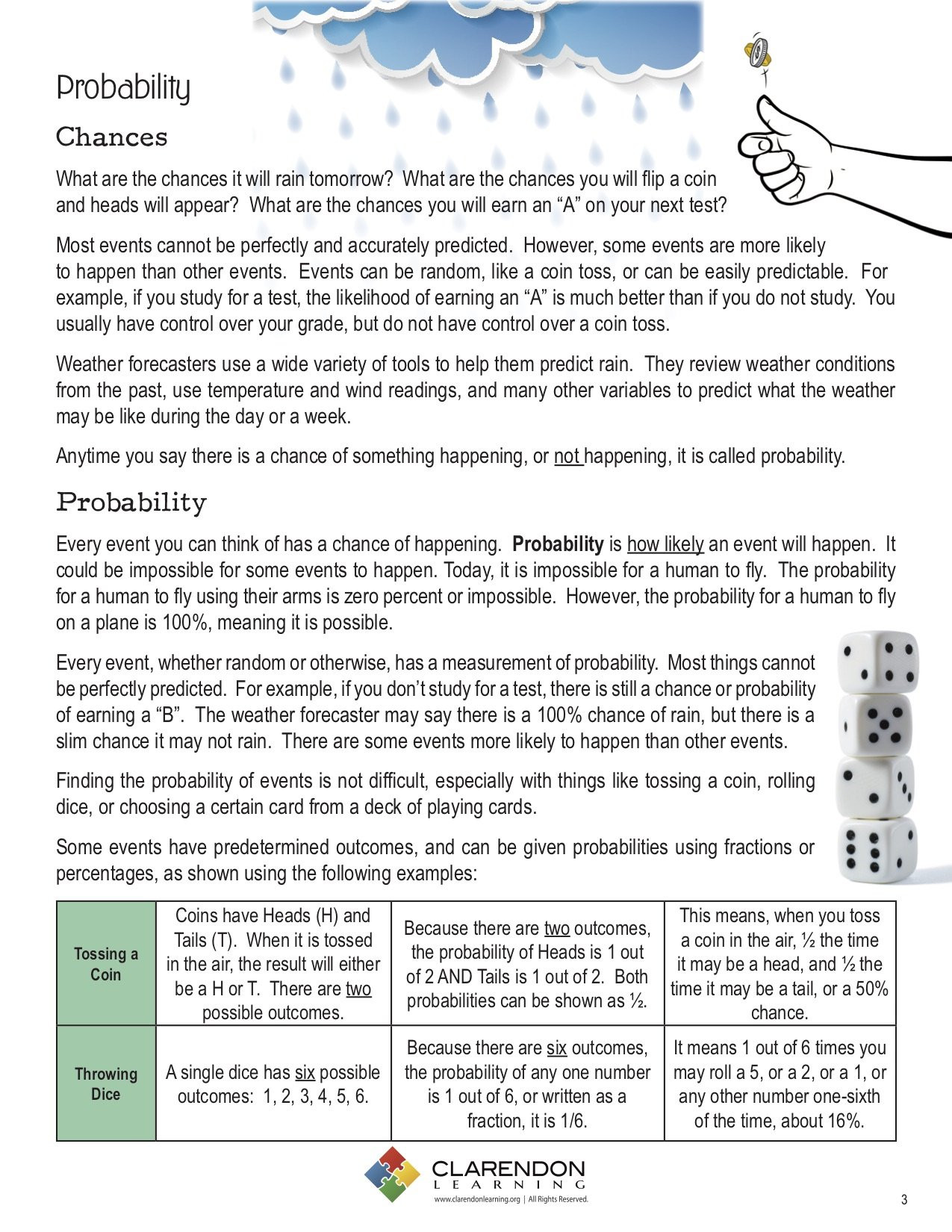 Probability Worksheet 6th Grade Probability