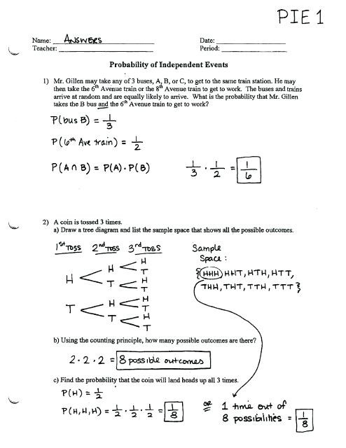 Probability Worksheet 6th Grade Probability Worksheets Answers – Dailycrazynews