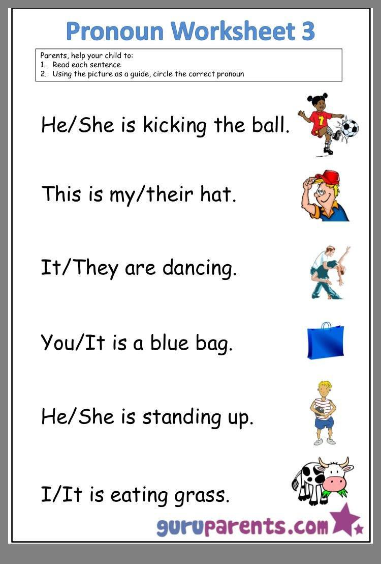 Pronoun Worksheets for Kindergarten Free Pronoun Worksheets for Kindergarten Free Pronoun Worksheets