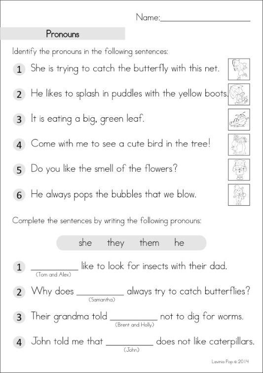 Pronouns Worksheets 5th Grade Grade Homework An Introduction with Pronoun