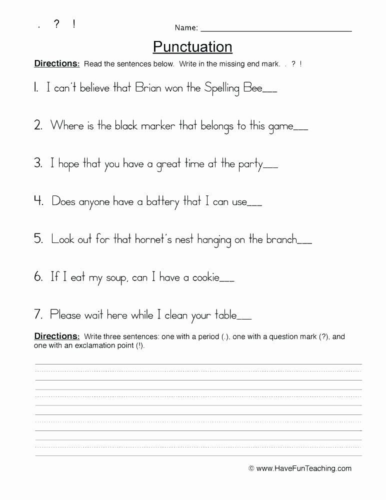 Punctuation Worksheets 5th Grade Pin On Editable Grade Worksheet Templates