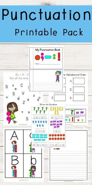Punctuation Worksheets for Kindergarten Punctuation Marks Printable Pack