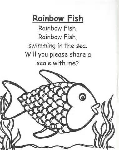 Rainbow Fish Printable Worksheets Rainbow Fish Preschool Worksheets Rainbow Fish Rhymes and