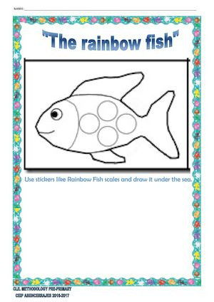 Rainbow Fish Printable Worksheets Rainbow Fish Printable that are Dramatic Mitchell Blog