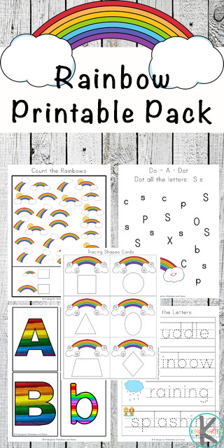 Rainbow Worksheets Preschool Free Rainbow Worksheets for Kids