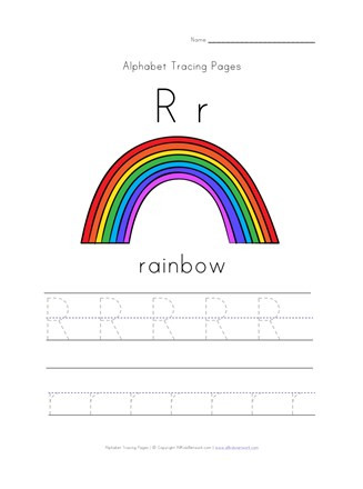 Rainbow Worksheets Preschool Letter R is for Rainbow Worksheet