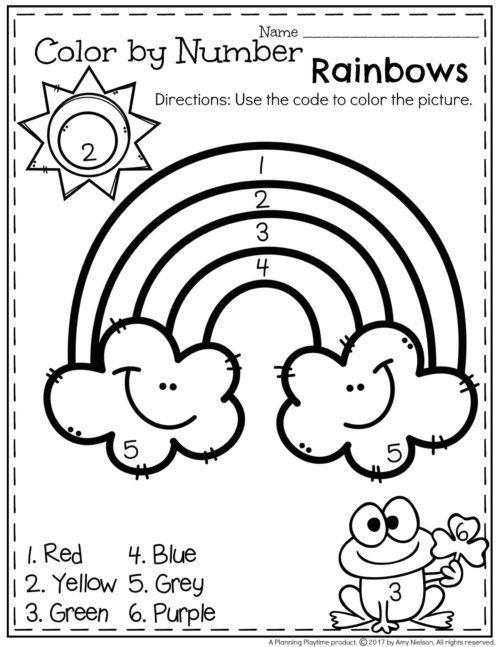 Rainbow Worksheets Preschool March Preschool Worksheets