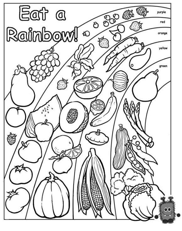 Rainbow Worksheets Preschool Words to Live by Eat A Rainbow Worksheets