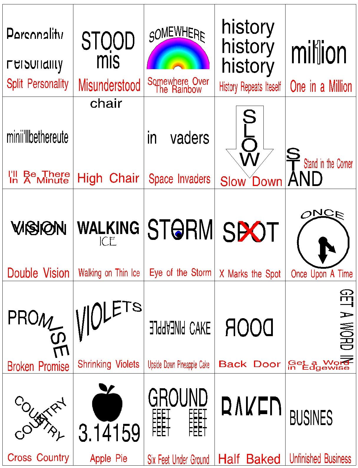 Rebus Brain Teasers Printable Word Puzzles Brain Teasers Worksheet