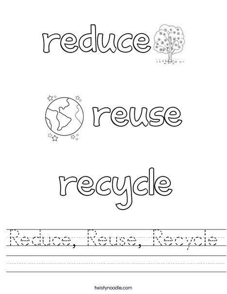 Recycle Worksheets for Kindergarten Recycle Worksheet Worksheet