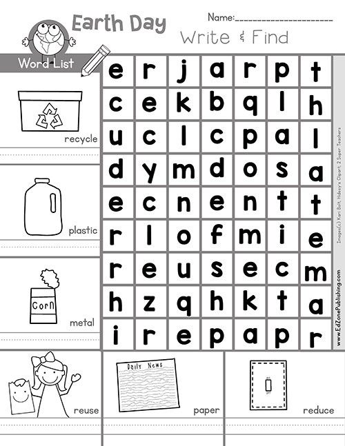 Recycling Worksheets for Kindergarten Earth Day Printables Kindergarten Mom