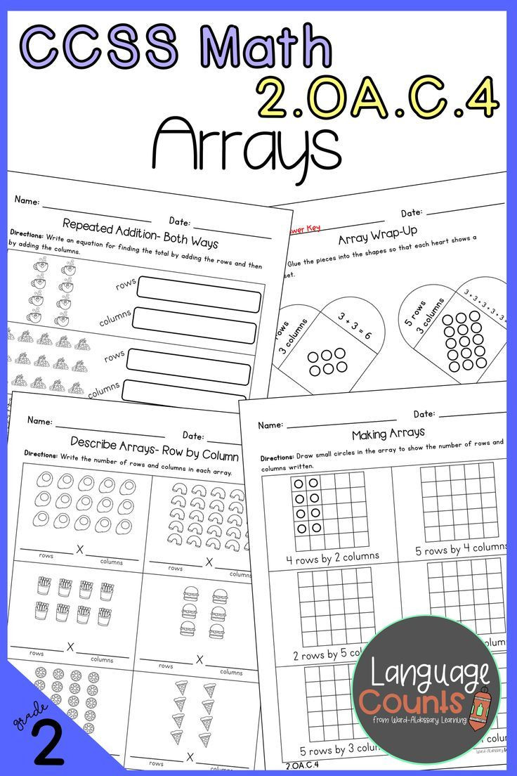 Repeated Addition Worksheets 2nd Grade 2nd Grade Arrays & Repeated Addition No Prep Practice