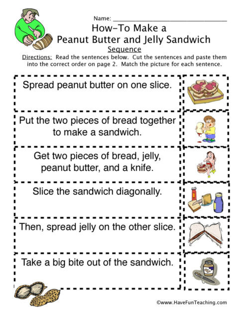 Retell Worksheet First Grade Sequencing Worksheets • Have Fun Teaching