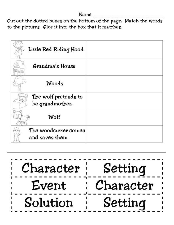 Retell Worksheet First Grade Speech Putt Putt