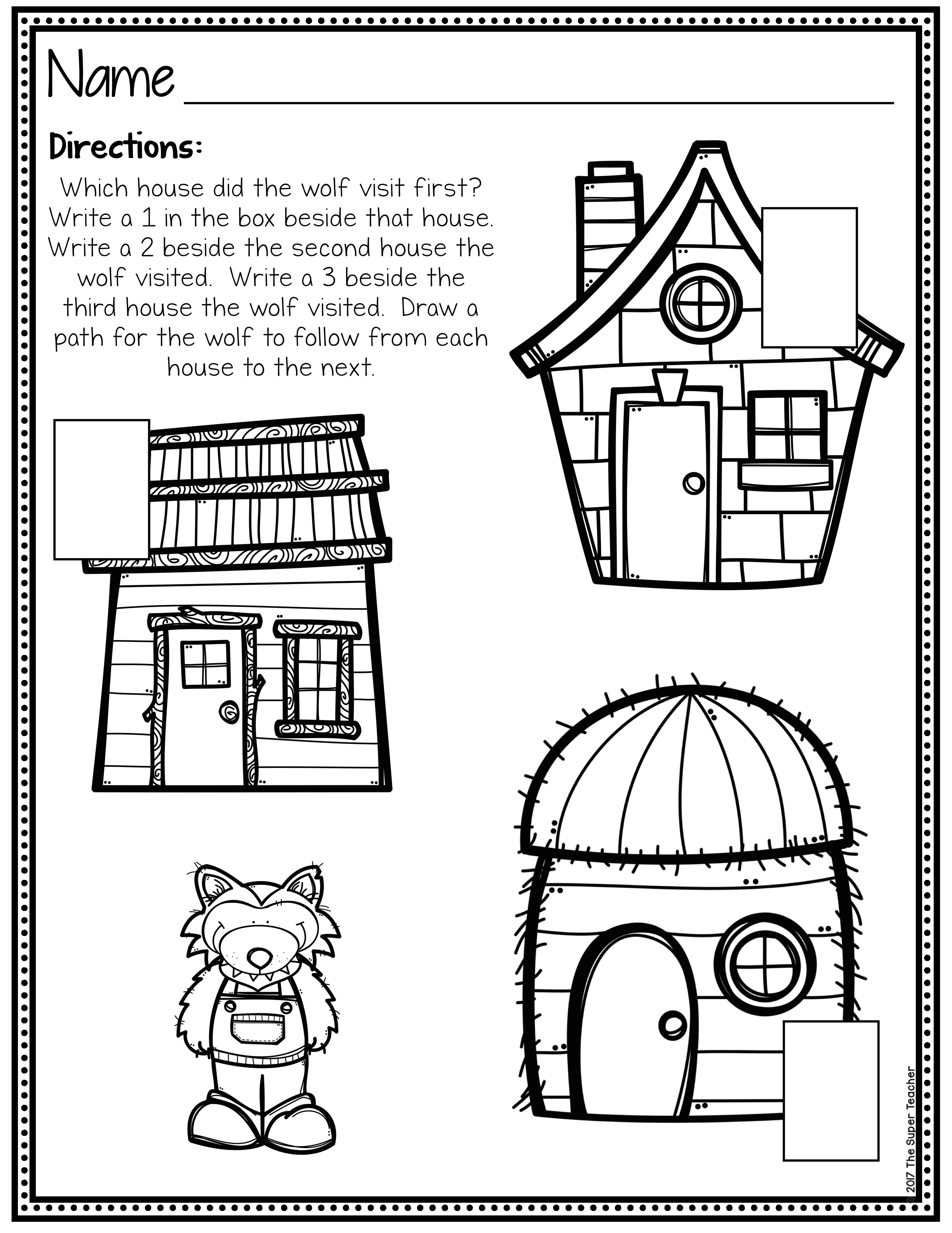Retell Worksheet First Grade Three Little Pigs Story Elements and Story Retelling Worksheets
