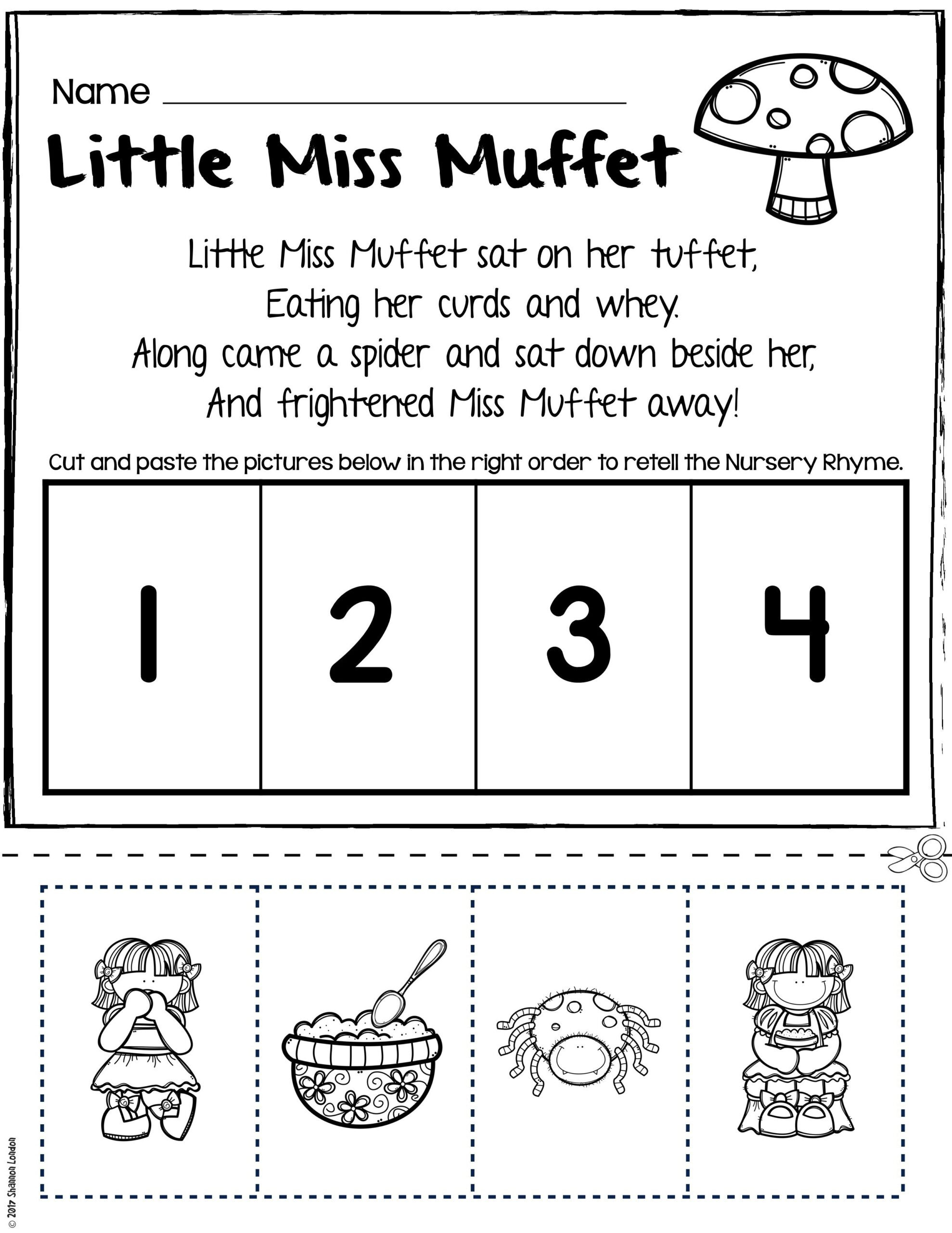 Rhyming Worksheets for Preschoolers Rhyming Printables for Preschool Worksheet