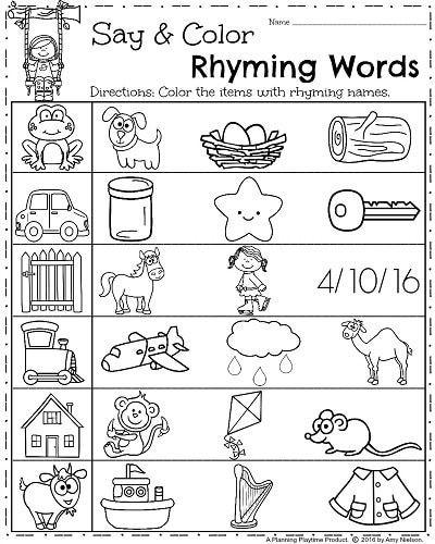Rhyming Worksheets for Preschoolers Spring Kindergarten Worksheets