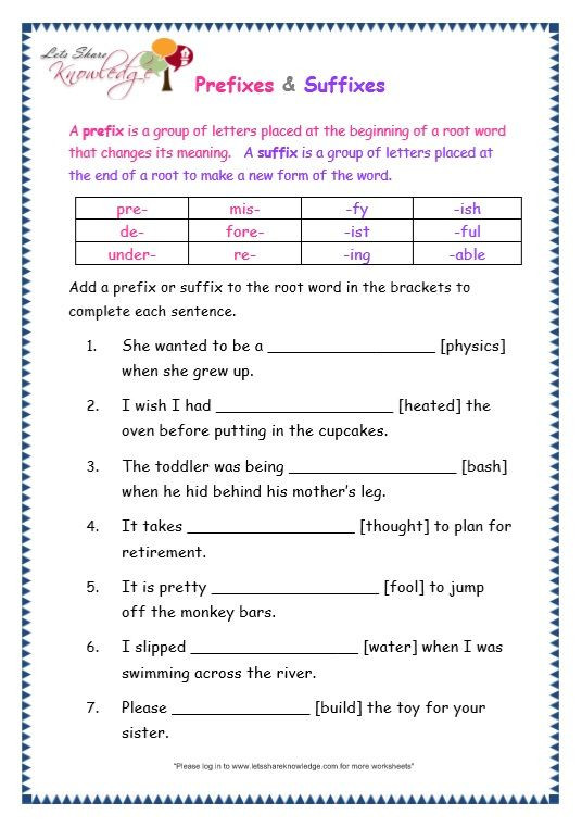 Root Words Worksheet 5th Grade Grade 3 Grammar topic 21 Prefix and Suffix Worksheets