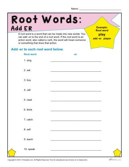 Root Words Worksheet 5th Grade Root Words Worksheets