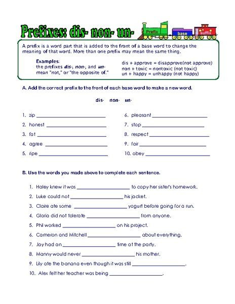 Root Words Worksheets 4th Grade Prefix Suffix and Root Word Worksheets Worksheet for 3rd