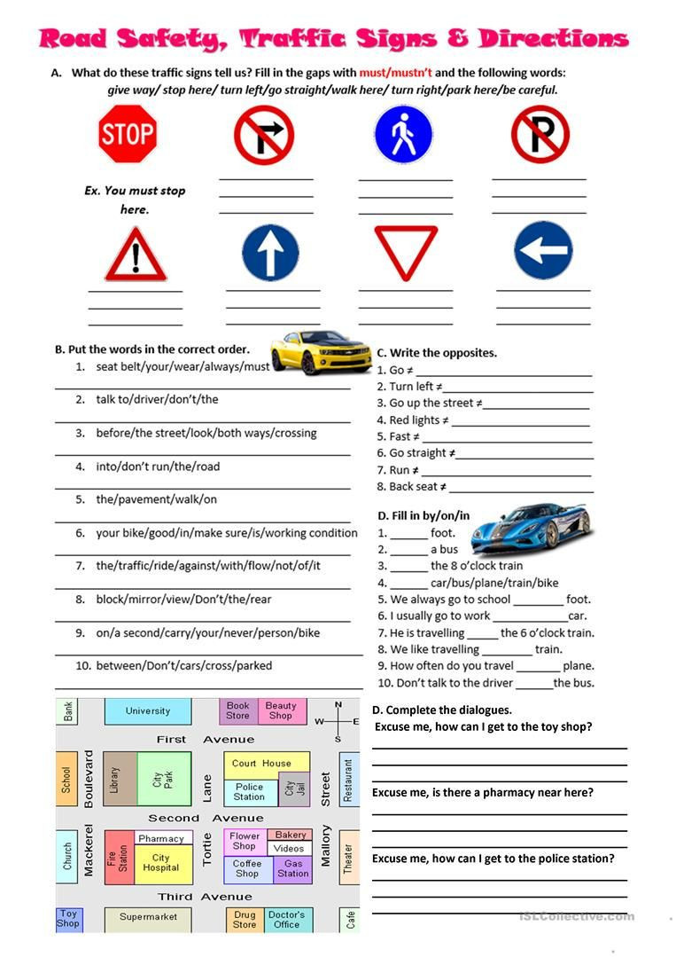 Safety Signs Worksheets for Kindergarten 5 Signs Worksheet Homework – Learning Worksheets