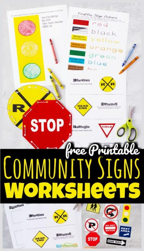 Safety Signs Worksheets for Kindergarten Free Printable Munity Signs Worksheets