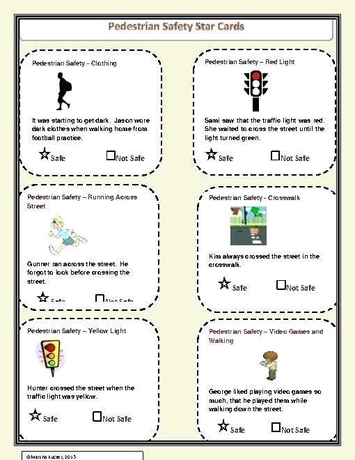Safety Signs Worksheets for Kindergarten Road Safety Signs Worksheets for Preschool Key Stage 1 and 2