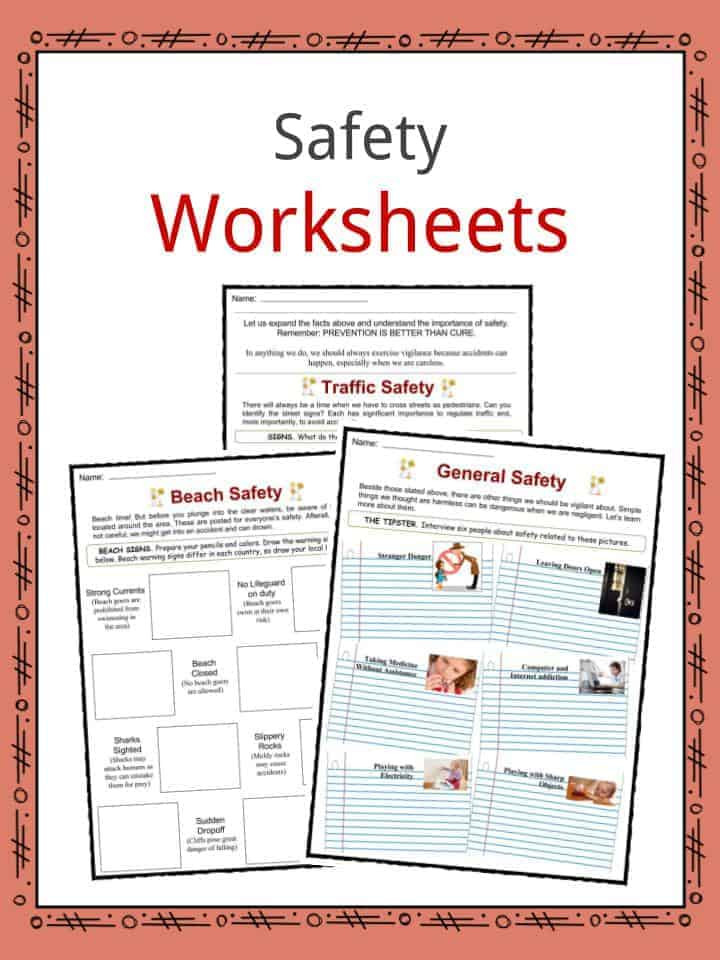Safety Signs Worksheets for Kindergarten Safety Facts Worksheets & General Advice and Information