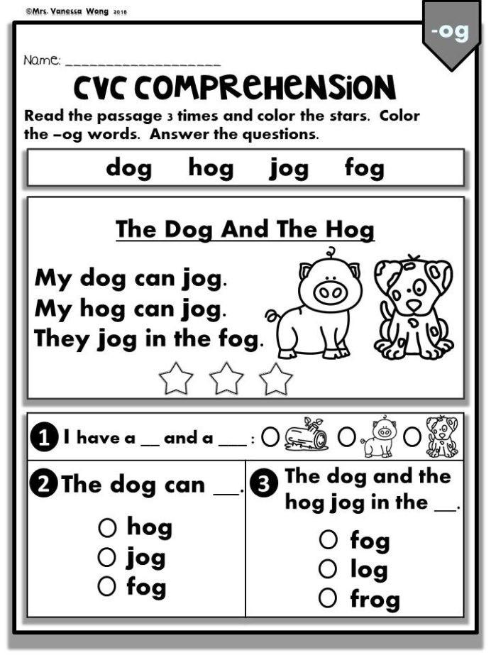 Saxon Math 6th Grade Worksheets Phonics Worksheets Cvc Prehension Readers Kindergarten