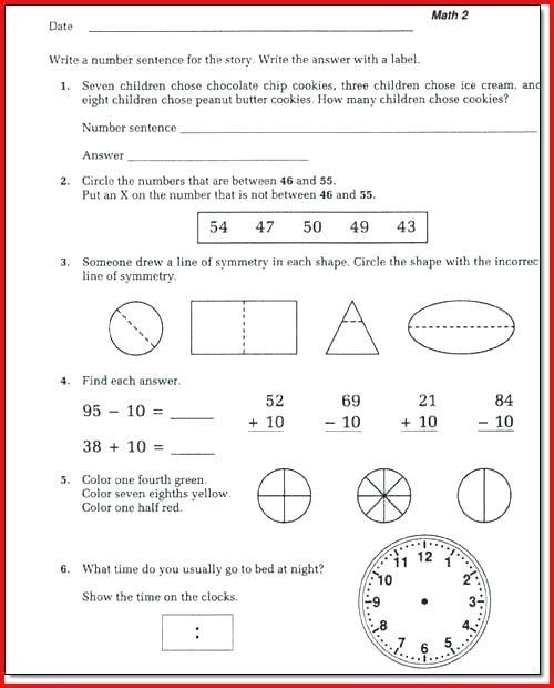 Saxon Math Grade 3 Worksheets Saxon Math 2 Worksheets – Goodaction