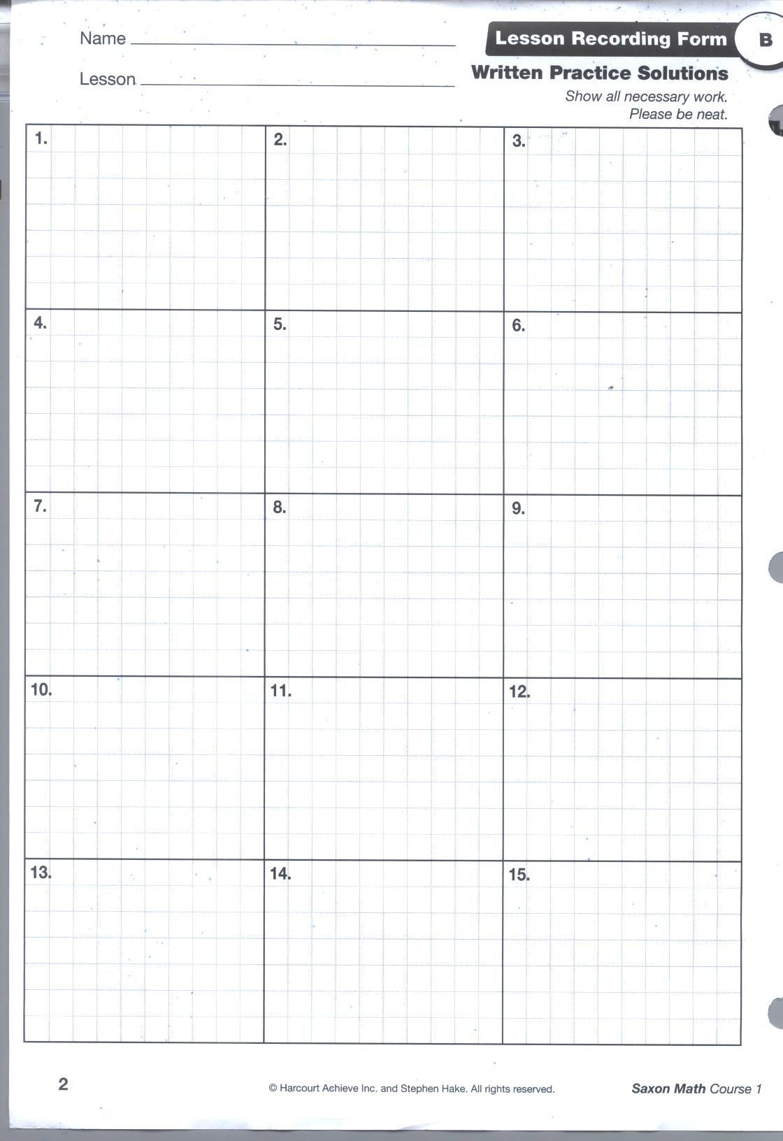 Saxon Math Worksheets 4th Grade Pin by Janice Austin On Education