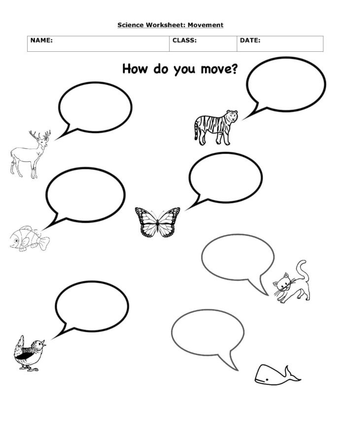 Science Worksheet 1st Grade Animals Move Science Worksheets Interactive Place Value 1st