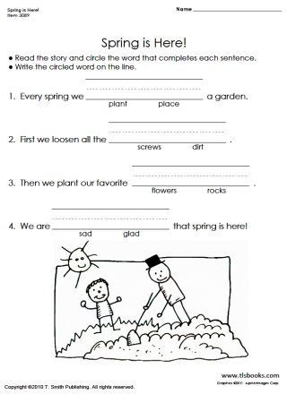 Science Worksheet 1st Grade Snapshot Image Of Spring is Here Reading Prehension