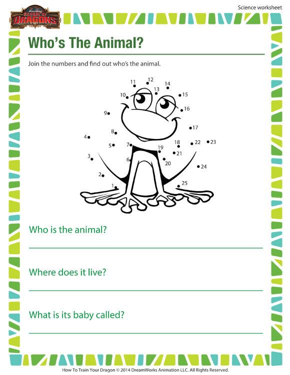 Science Worksheet 1st Grade who S the Animal Printable Worksheet 1st Grade Kids sod