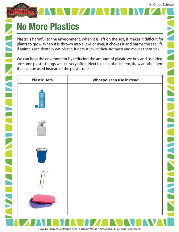 Science Worksheet First Grade No More Plastics View – Printable Science Worksheets Kids – sod