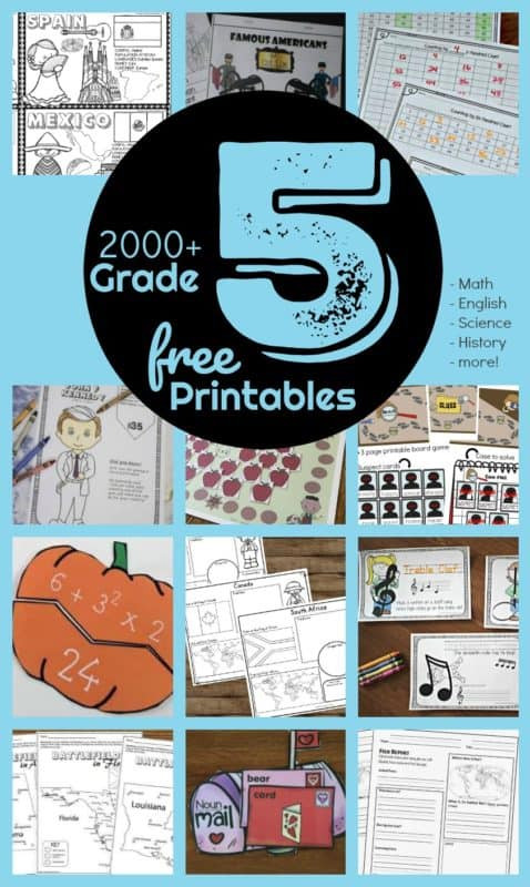 Science Worksheets for 5th Grade Free 5th Grade Worksheets