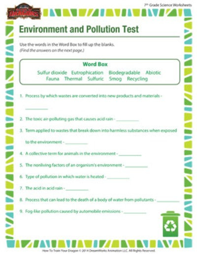 Science Worksheets for 5th Grade Seventh Grade Science Worksheets