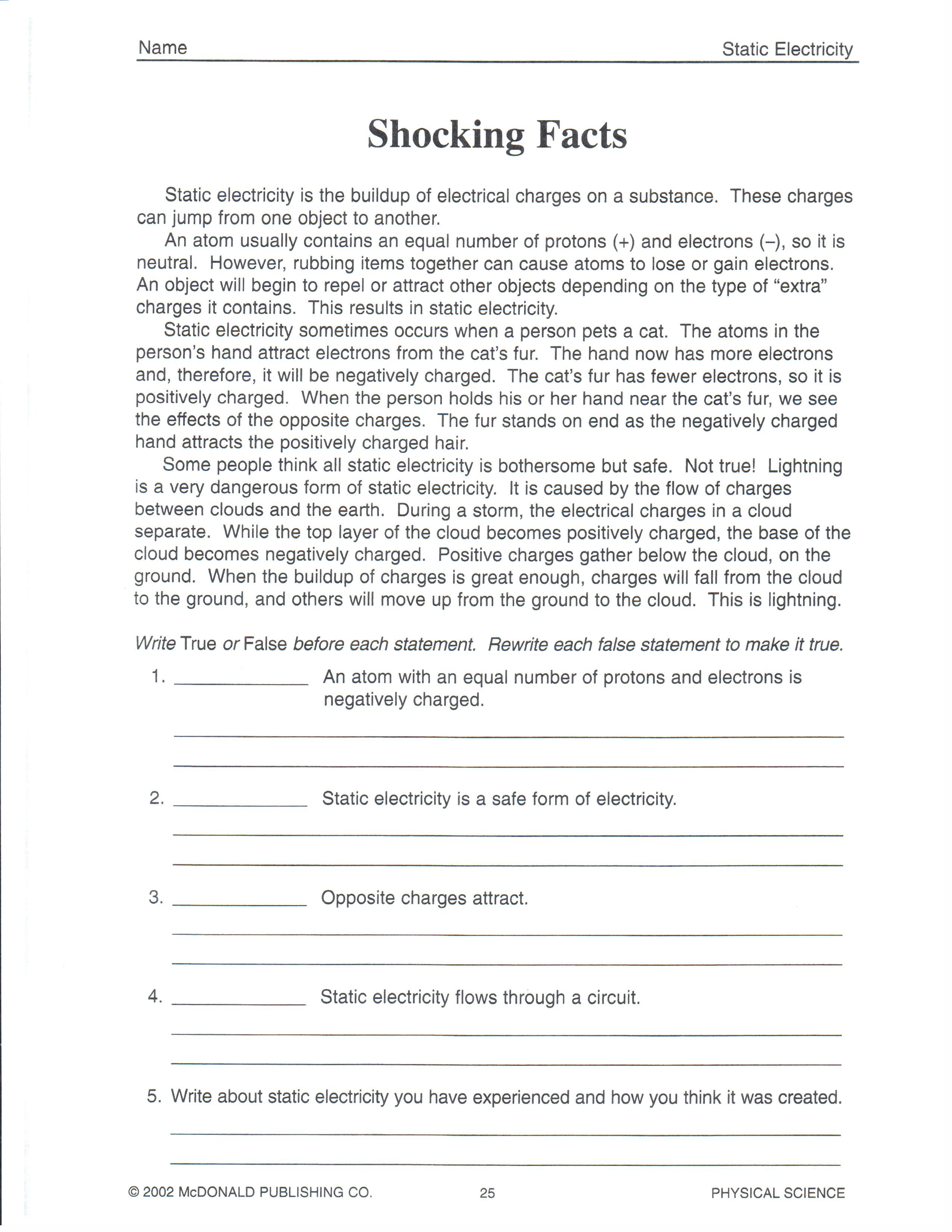 Science Worksheets for 8th Grade Multiple Meaning Words Worksheets 8th Grade & April 2013 the