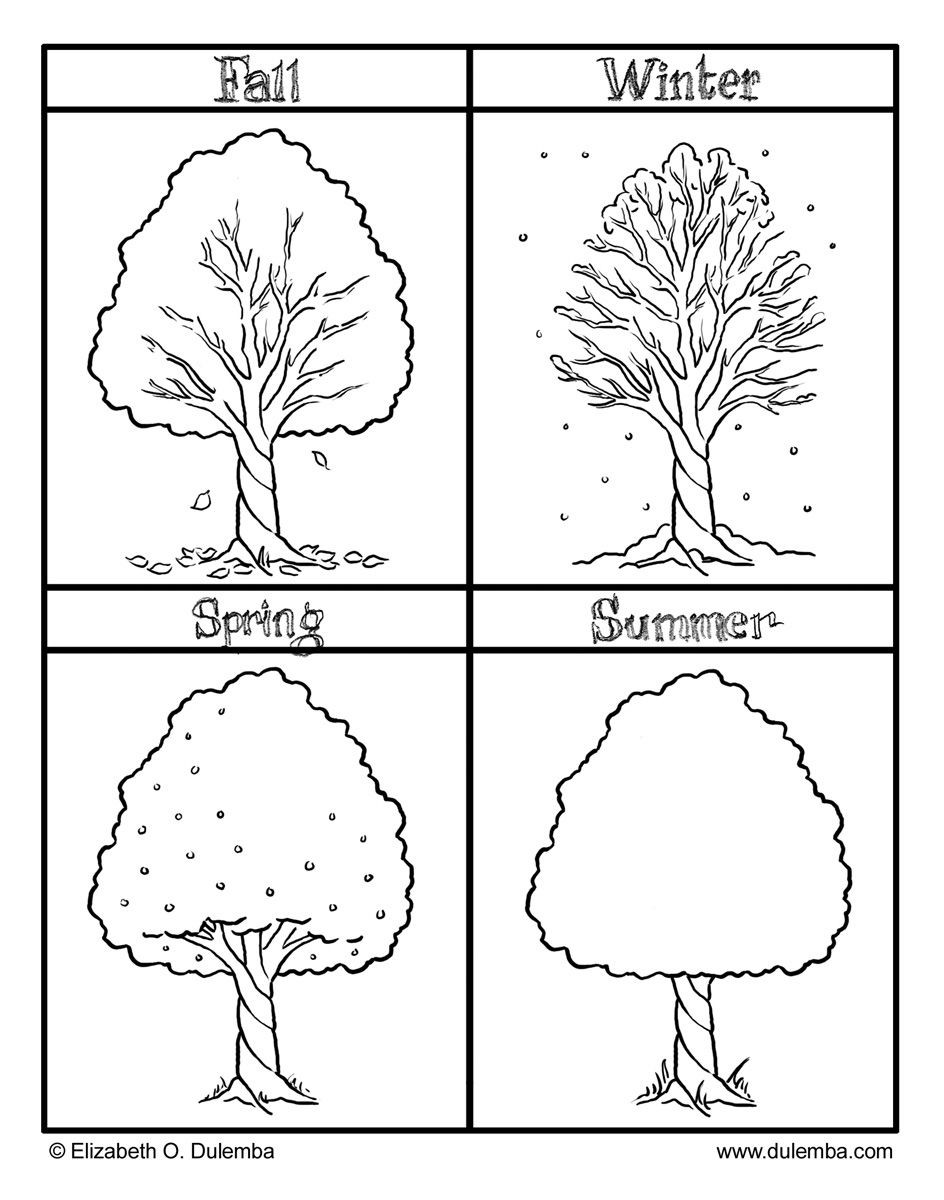 Seasons Worksheets for Kindergarten Fall Winter Spring and Summer Seasons Coloring Pages for