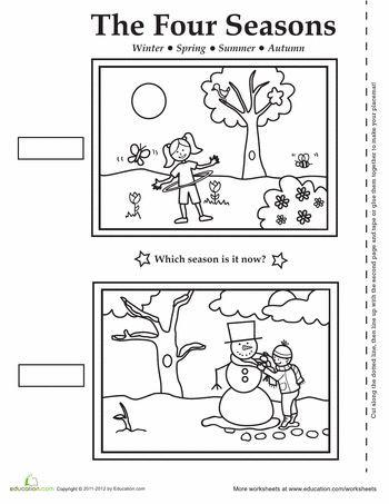 Seasons Worksheets for Kindergarten Four Seasons Activity Placemat