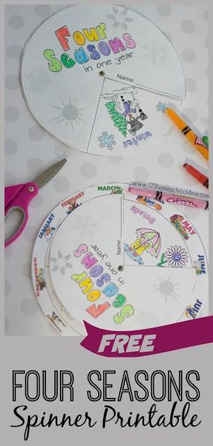Seasons Worksheets for Kindergarten Free Printable Seasons Activities